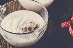 Πικάντικο ποτό milkshakes διακοπών Χριστουγέννων στοκ εικόνα με δικαίωμα ελεύθερης χρήσης