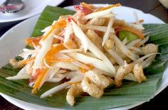 Πικάντικο ταϊλανδικό Papaya με τη σαλάτα Pock Στοκ Εικόνες