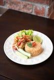 Πικάντικο τηγανισμένο ρύζι με τη γαρίδα Στοκ εικόνα με δικαίωμα ελεύθερης χρήσης