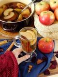 Πικάντικο compote μήλων σε μια ιρλανδική κούπα Στοκ Εικόνες