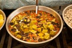 Πικρές κολοκύθα και shiitake σούπα Στοκ εικόνες με δικαίωμα ελεύθερης χρήσης