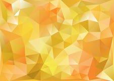 Πικροί κίτρινος υποβάθρου κυβισμού και πορτοκαλής Στοκ Εικόνα