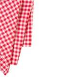 Πικ-νίκ διακόσμηση συνόρων ενδυμάτων που απομονώνεται κόκκινη Σχέδιο πιτσών Στοκ εικόνες με δικαίωμα ελεύθερης χρήσης
