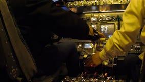 Πιλοτήριο αστικών αεροσκαφών απόθεμα βίντεο