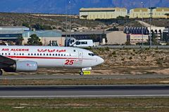 Πιλοτήριο της Αλγερίας αέρα στον αερολιμένα της Αλικάντε Στοκ εικόνες με δικαίωμα ελεύθερης χρήσης