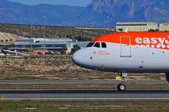 Πιλοτήριο Easyjet στον αερολιμένα της Αλικάντε Στοκ εικόνα με δικαίωμα ελεύθερης χρήσης