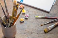πινέλα χρωμάτων Στοκ φωτογραφίες με δικαίωμα ελεύθερης χρήσης