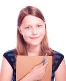 Πινέλο και έγγραφο εκμετάλλευσης κοριτσιών εφήβων Στοκ εικόνες με δικαίωμα ελεύθερης χρήσης