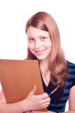 Πινέλο και έγγραφο εκμετάλλευσης κοριτσιών εφήβων Στοκ Εικόνες
