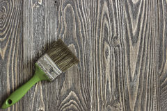 Πινέλο που βρίσκεται σε έναν ξύλινο πίνακα Στοκ Φωτογραφία