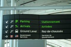 πινακίδα αερολιμένων Στοκ εικόνες με δικαίωμα ελεύθερης χρήσης
