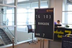 Πινακίδα αναχώρησης της Μπανγκόκ Στοκ Εικόνα