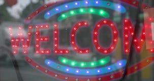 Πινακίδα με την υποδοχή κειμένων απόθεμα βίντεο