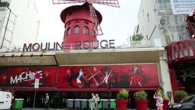 Πινακίδα ρουζ Moulin απόθεμα βίντεο