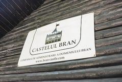 Πινακίδα του Castle πίτουρου στοκ φωτογραφίες με δικαίωμα ελεύθερης χρήσης