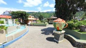 Πινακίδα χρώματος Boquete σε μια ηλιόλουστη ημέρα Παναμάς απόθεμα βίντεο