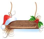 πινακίδα santa καπέλων Χριστο&ups Στοκ φωτογραφία με δικαίωμα ελεύθερης χρήσης