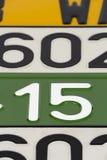 Πινακίδες αριθμού κυκλοφορίας Στοκ φωτογραφίες με δικαίωμα ελεύθερης χρήσης