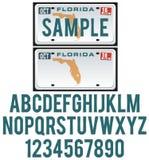Πινακίδα αριθμού κυκλοφορίας της Φλώριδας Στοκ εικόνες με δικαίωμα ελεύθερης χρήσης