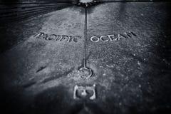 Πινακίδα που παρουσιάζει το Ειρηνικό Ωκεανό Στοκ φωτογραφίες με δικαίωμα ελεύθερης χρήσης