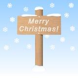 Πινακίδα Χαρούμενα Χριστούγεννας Στοκ φωτογραφία με δικαίωμα ελεύθερης χρήσης