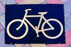 Πινακίδα Biking Στοκ Φωτογραφίες