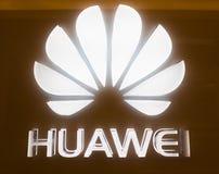Πινακίδα Huawei σε Suria KLCC, Κουάλα Λουμπούρ Στοκ Φωτογραφίες