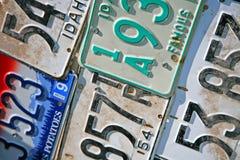 πινακίδες αριθμού κυκλ&omic Στοκ εικόνα με δικαίωμα ελεύθερης χρήσης