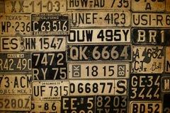 Πινακίδες αριθμού κυκλοφορίας Στοκ Εικόνες