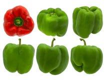 πιπέρια έξι Στοκ εικόνες με δικαίωμα ελεύθερης χρήσης