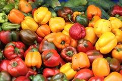 Πιπέρια αγοράς Στοκ Φωτογραφίες