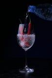 πιπέρια δύο γυαλιού τσίλι Στοκ Εικόνα