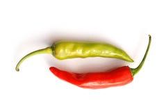 πιπέρια δύο τσίλι Στοκ εικόνες με δικαίωμα ελεύθερης χρήσης
