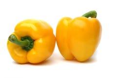 πιπέρια κίτρινα Στοκ Εικόνες