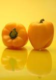 πιπέρια κουδουνιών κίτριν&a Στοκ Εικόνες