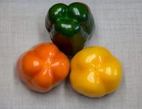 πιπέρια κουδουνιών τρία Στοκ Εικόνες