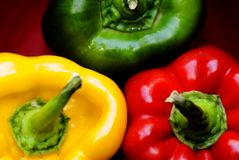 πιπέρια κουδουνιών τρία στοκ εικόνα με δικαίωμα ελεύθερης χρήσης