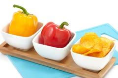 πιπέρια πάπρικας τσιπ Στοκ Φωτογραφίες