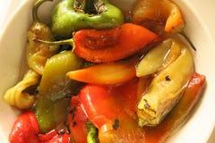 πιπέρια που γεμίζονται Στοκ Εικόνα
