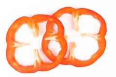 Πιπέρια που τεμαχίζονται γλυκά στα κομμάτια Στοκ Φωτογραφία