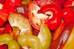 πιπέρια που τεμαχίζονται Στοκ φωτογραφίες με δικαίωμα ελεύθερης χρήσης