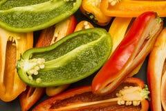 πιπέρια που τεμαχίζονται Στοκ Εικόνα