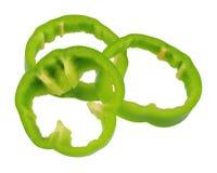πιπέρια που τεμαχίζονται Στοκ Φωτογραφίες
