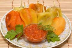 πιπέρια που ψήνονται στοκ εικόνες με δικαίωμα ελεύθερης χρήσης