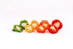 Πιπέρια σε τέσσερα χρώματα Στοκ φωτογραφία με δικαίωμα ελεύθερης χρήσης