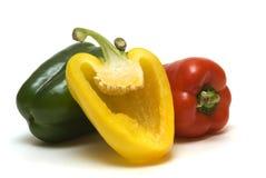πιπέρια τρία Στοκ Φωτογραφία