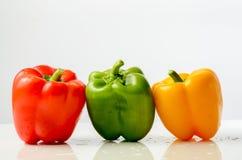 πιπέρια τρία Στοκ Εικόνες