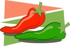 πιπέρια τσίλι διανυσματική απεικόνιση