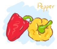 πιπέρια δύο Στοκ Φωτογραφίες