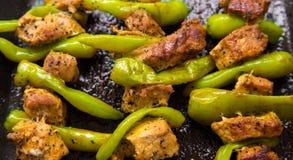 Πιπέρι και κρέας στοκ εικόνα με δικαίωμα ελεύθερης χρήσης